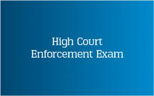 CICM High Court Enforcement Exam